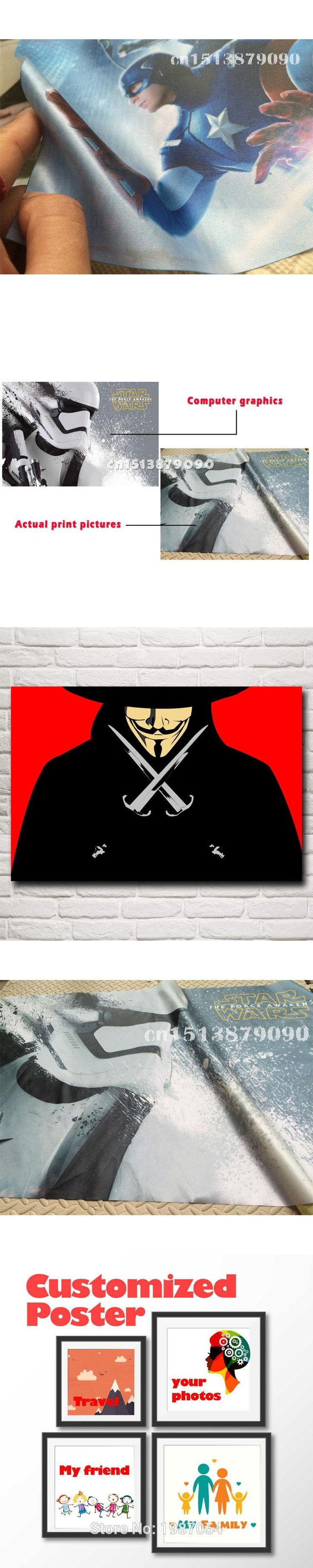 Movie V For Vendetta Mask Art Silk print Poster wall Decorative Pictures 12x18 16X24 20x30 24x36 Inches Free Shipping