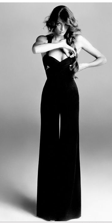 Alaia: Long Legs, Vogue Paris, Rompers, Jumpers, Jumping Suits, Wide Legs, Pants Suits, Daria Werbowy, Black Jumpsuits