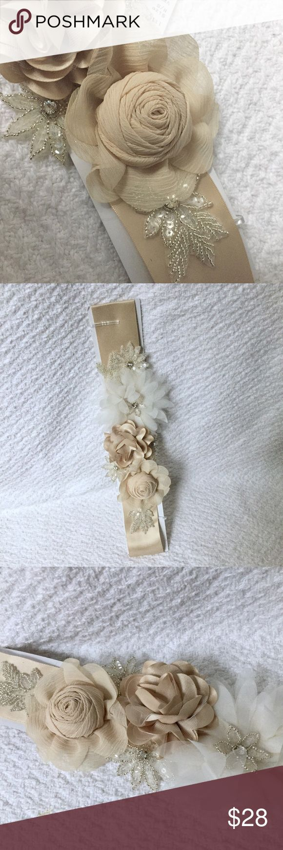wedding dress flower sash ribbon bought for my wedding but never wore still has tag