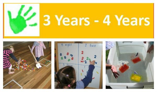 Over 80 activities and play ideas 3 Years - 4 Years.  This list is continually being updated!{learning4kids.net}