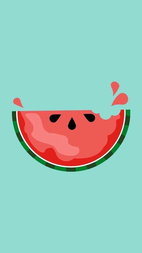 wallpaper, watermelon, and background Bild