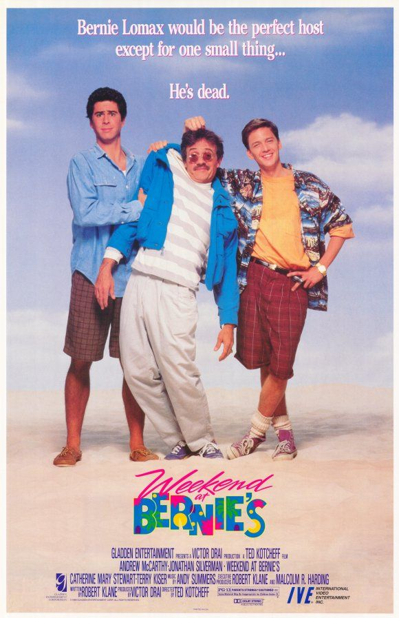 WEEKEND AT BERNIE'S (1989) with Jonathan Silverman and Andrew McCarthy