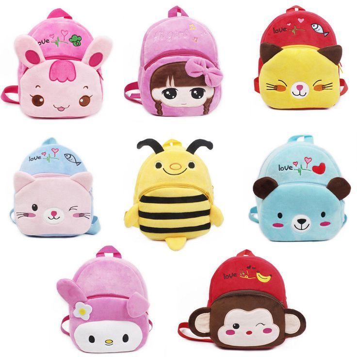 Sevimli Çocuklar Bebek Karikatür Sırt Peluş Çanta Boy Kız çocuk Omuz Taşıyıcıları Sırt Çantaları Güzel Mochila 21