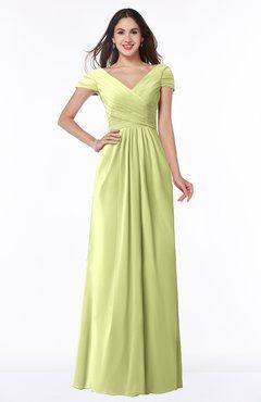 db140361cbf ColsBM Evie Lime Green Glamorous A-line Short Sleeve Floor Length Ruching  Plus Size Bridesmaid Dresses