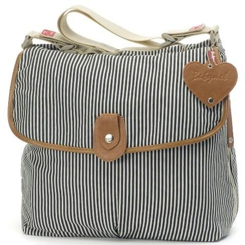 Babymel Satchel in Navy Stripe. The perfect size for storing all your essentials! $99 and available at www.dollface.com.au