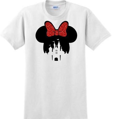 Tête de Minnie Mouse avec la Silhouette du par ShesCrafteeLLC