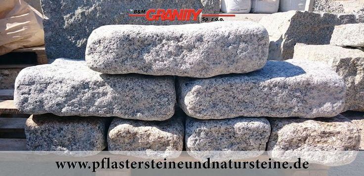 """B&M GRANITY-""""Antike"""" Granit-Mauersteine aus Polen (rustikal, getrommelt, gerundet, frostbeständig und ohne scharfe Kanten)"""