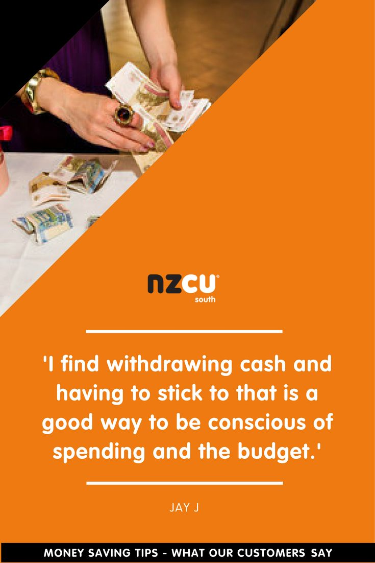 'I find withdrawing cash and having to stick to that is a good way to be conscious of spending and the budget.'