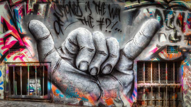 Yeah Man - Street art in Hosier Lane | March 2017