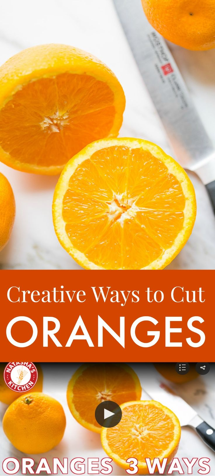 How to Cut an Orange 3 Creative Ways (VIDEO)