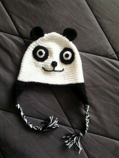 Cappello-panda uncinetto