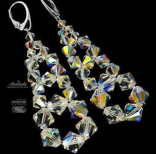 Przepiękne kolczyki z oryginalnymi kryształami Swarovskiego: AURORA CRYSTAL.