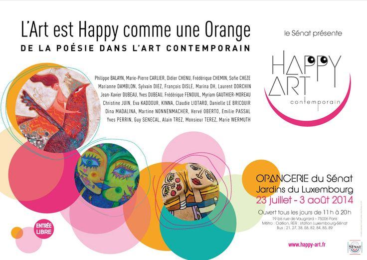 expo Happy Art à l'Orangerie du Sénat.