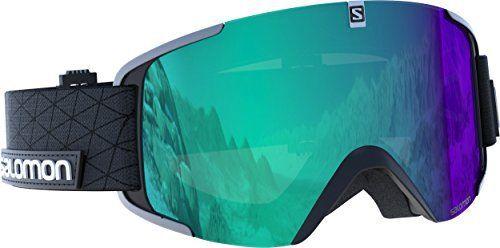 Salomon, L39902600 Unisexe Masque de Ski, Tous Temps, Écran Bleu Photochromique Multicouche (Interchangeable), Système Airflow, X View…