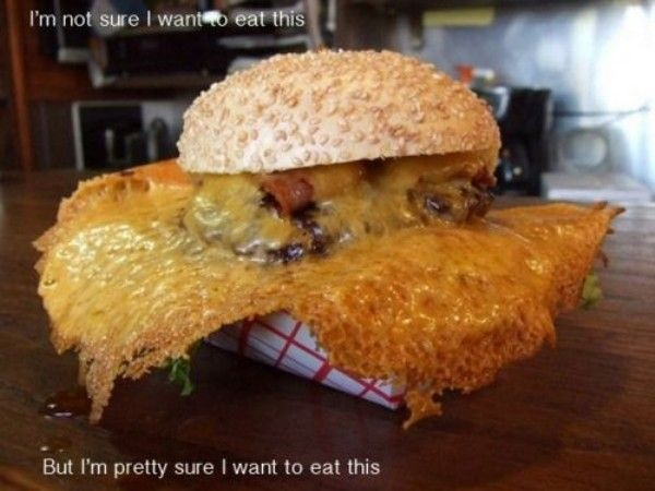 Bacon and burnt cheese??? Shut up and take my money!!!