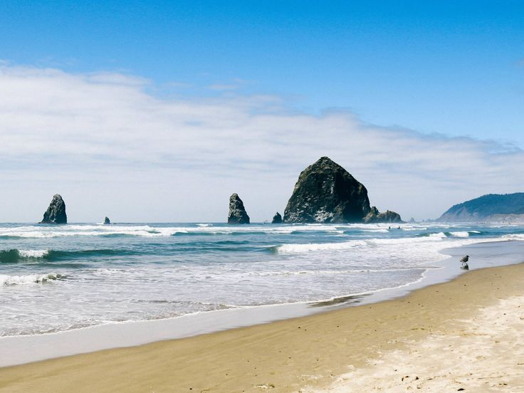Cannon Beach Cannon Beach, Oregon sky water outdoor Beach Nature Coast shore Ocean Sea body of water wind wave wave horizon vacation sand bay cape terrain sandy day
