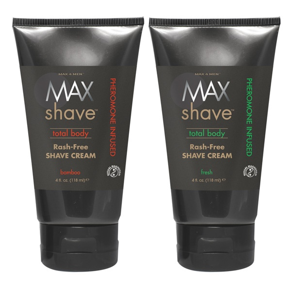 Max Shave Total Body Rash-Free Shave Cream with pheromone sexual magnetism.