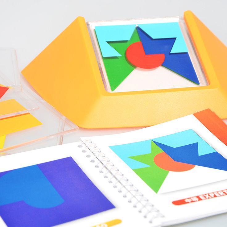 100 Вызов Цветовой Код Игры Головоломки Tangram Головоломки Доска Головоломки Игрушки Дети Детям Развивать Логику Пространственное мышление Навыки Игрушки