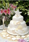 Beach Themed Wedding Cakes | Seashell Wedding Cakes | Michel Gras L'Atelier