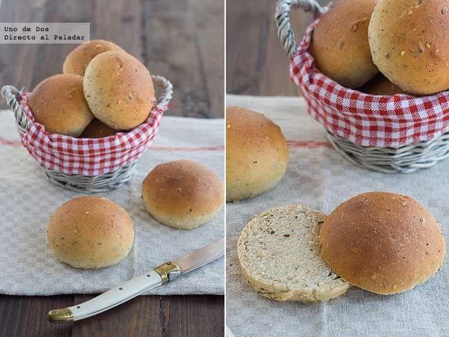 Receta de panecillos tiernos de espelta con semillas http://www.directoalpaladar.com/recetas-de-panes/receta-de-panecillos-tiernos-de-espelta-con-semillas