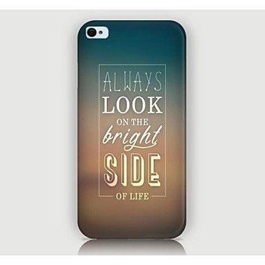 iPhone 4 / 4S/iPhone 4 - Zadní kryt - Speciály/Novinka/Cool slovo / fráze ( Vícebarevný , Plast ) – USD $ 1.99