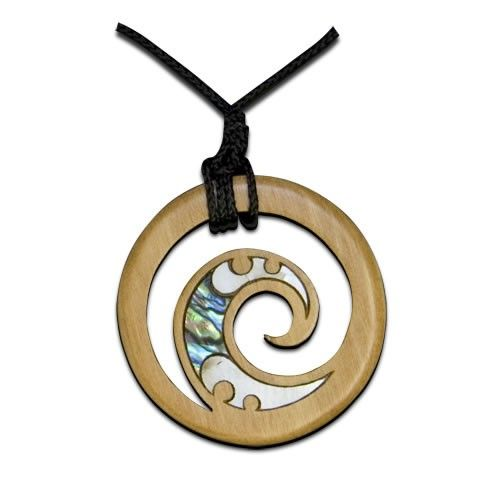 Rimu Maori Koru Pendant