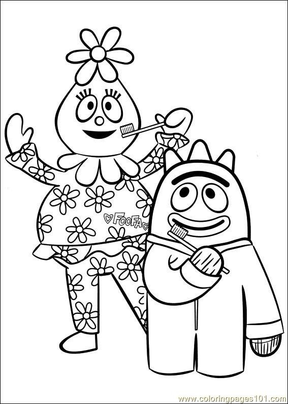 Brush Your Teeth Yo Gabba Gabba Dance Coloring Pages Coloring Pages
