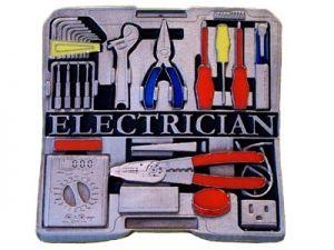 Gürtelschnalle Electrician
