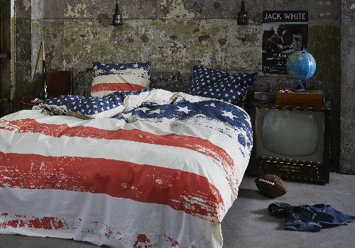 Bedroom Trend 2014 – Urban Life Bed Linen - Duvet Cover & Pillows USA American Flag Theme -  Covers & Co by Essenza Home - #Coversandco #EssenzaHome #Bedlinen #Duvetcover