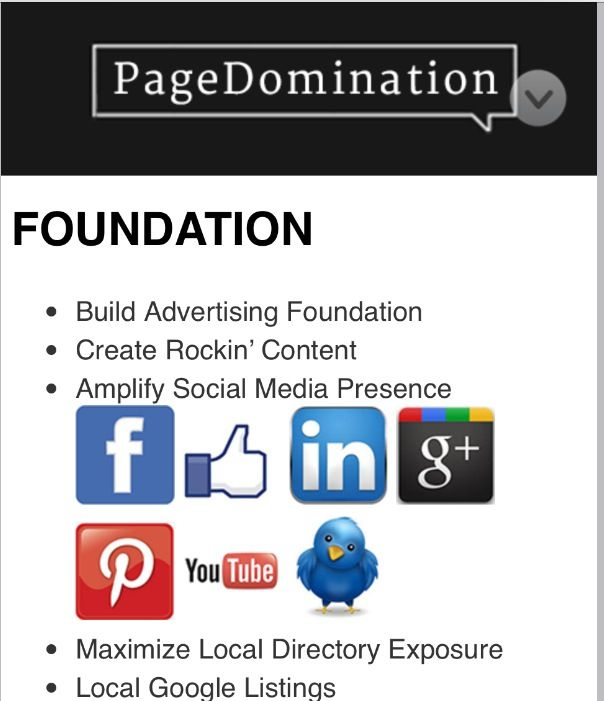 Create Rockin' Content Amplify Social Media Presence Maximize Local Directory Exposure Local Google Listings www.pagedomination.com