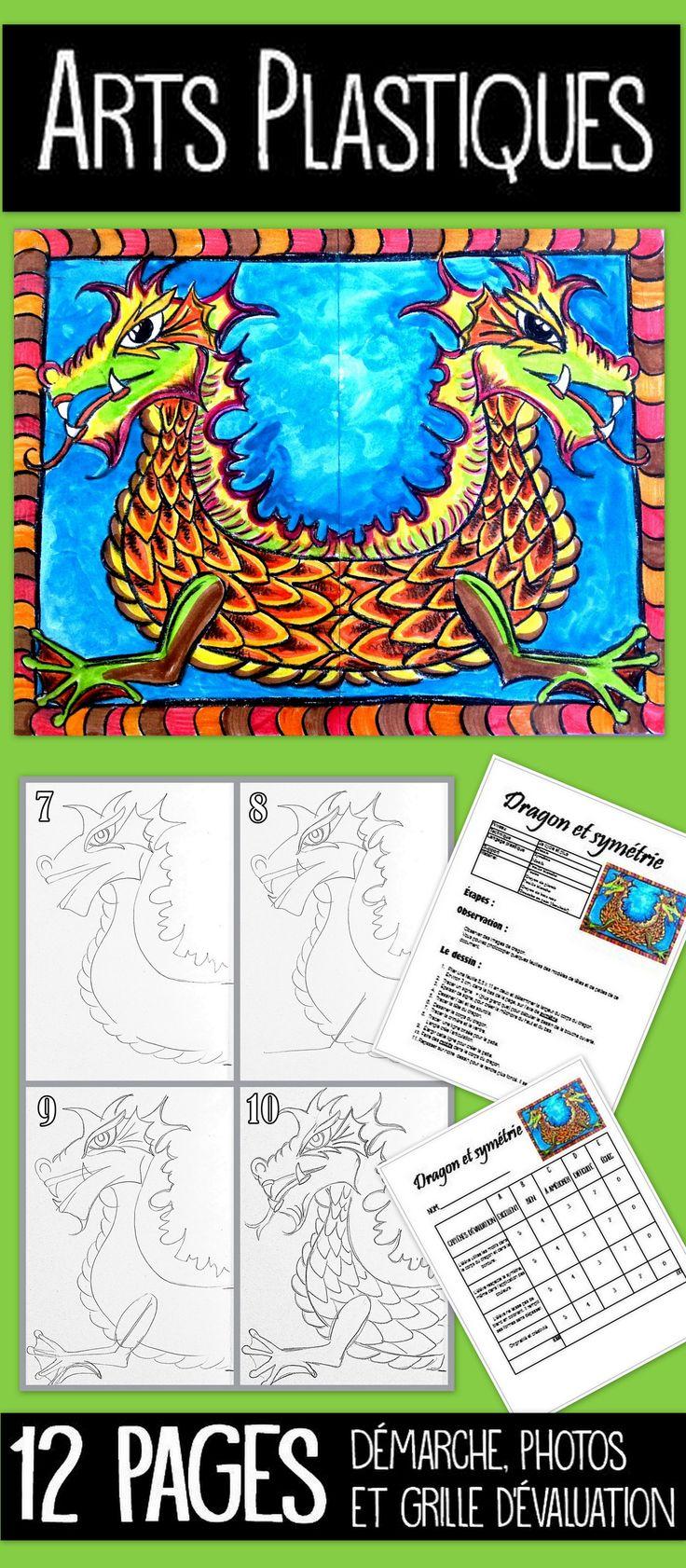 Intégrer les mathématiques aux arts ? Pourquoi pas !  Travaillons la notion de symétrie avec ce projet pour le 2e cycle et plus. Très intéressant pour le secondaire également.  Vous aurez besoin de crayon de bois noir et de crayon de plomb. Une simple feuille de photocopieuse peut servir de support. Les enfants s'émerveillent de réussir une symétrie aussi parfaite. Soyez assuré que la notion sera acquise. Démarche complète avec photos et grille d'évaluation comprise.