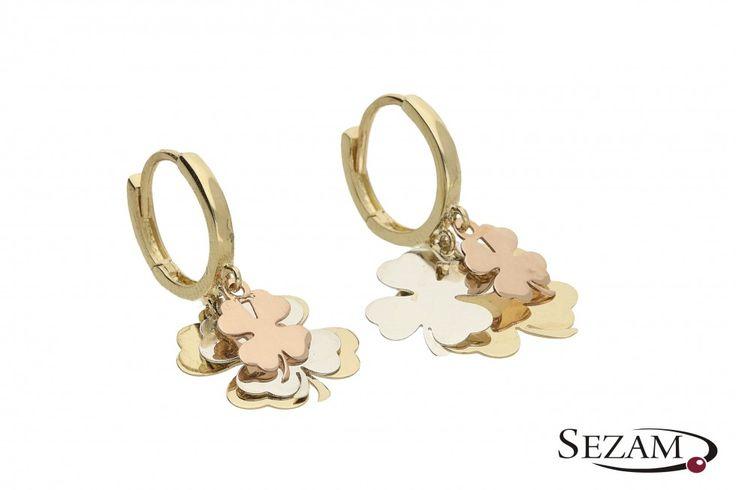 Nowości w kolekcji FANCY #kolczyki #kolczykizzawieszkami #koniczyna #czterolistna #złoto #fancy #jewelry #earings #pendants #gold