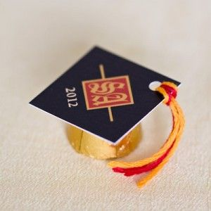 Simple grad candy favors made personal with custom tag hats!