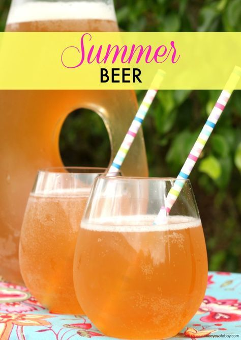 Summer Beer recipe drink cocktail pink lemonade shandy