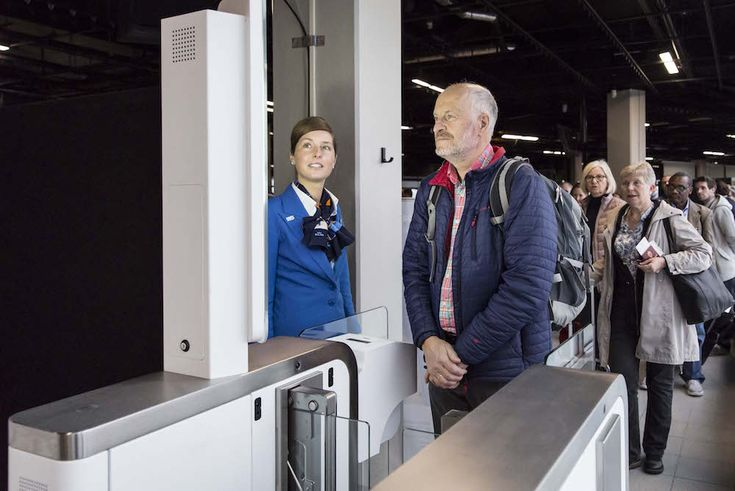 KLM Is Implementing Biometric Scanners To Make Boarding Faster    The airline is testing facial recognition as a passport replacementGet More Ideas With The PSFK Daily Newsletter   http://www.psfk.com/2017/03/klm-is-implementing-biometric-scanners-to-make-boarding-faster.html