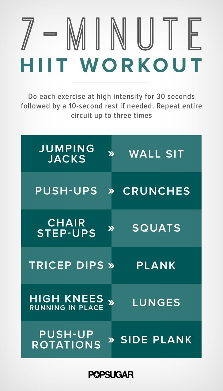 7 minutes for a workout — who doesn't have time for that?