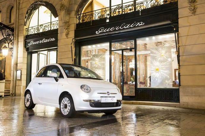 A limited edition Fiat 500 dedicated to Guerlain's La petite Robe Noire perfume