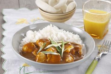 Kurczak w Sosie Chińskie Curry