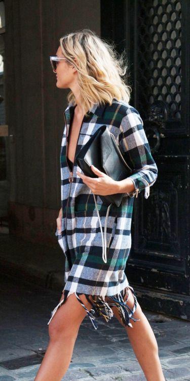 tartan shirt dress • Style School ByDanie