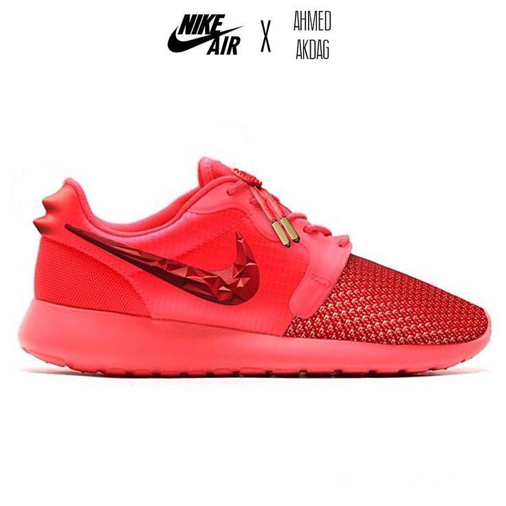 Nike Roshe Run - Yeezy Red Octobers Custom Nike Air x Ahmed Akdag