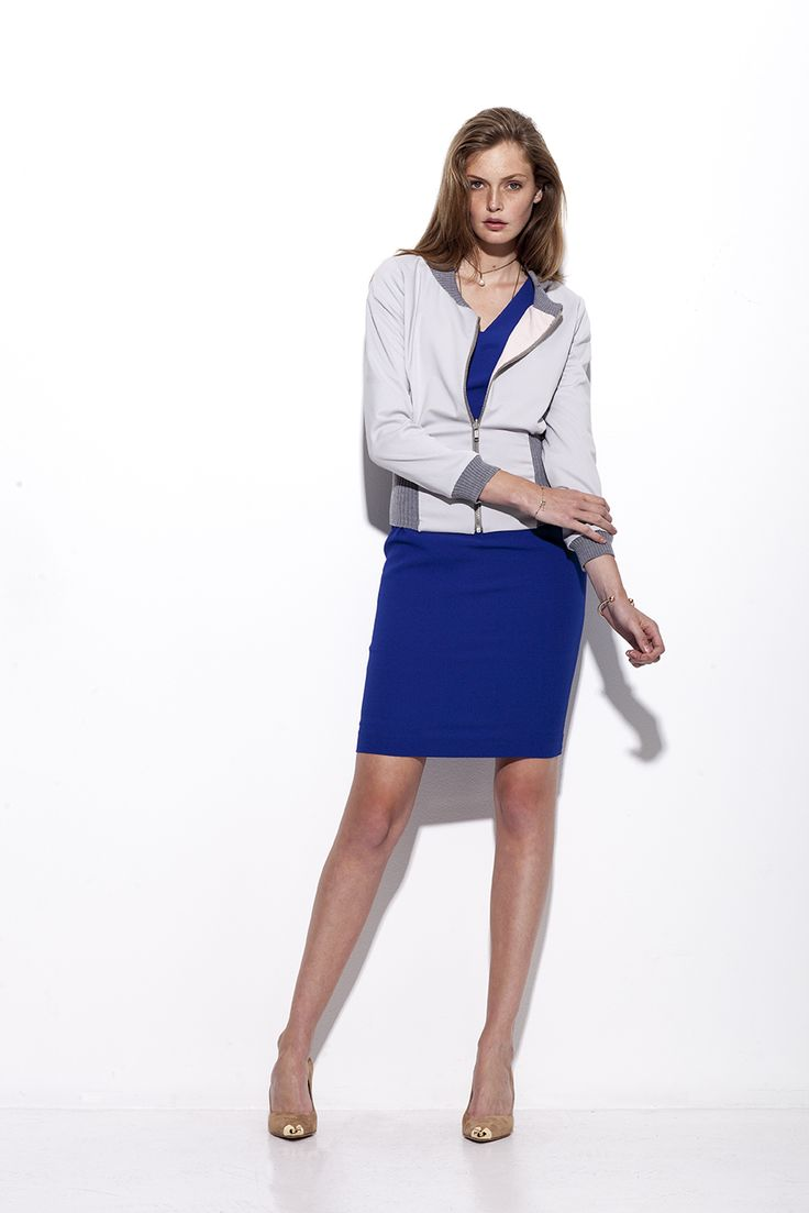 Bogelund-Jensen´s SS15 collection: The turnable jacket with handmade knit with the dart dress under