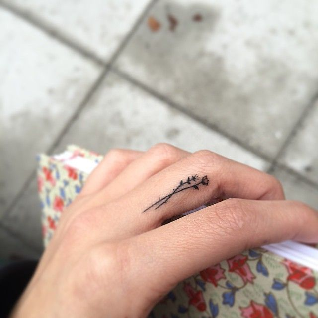 Simple flower tattoo