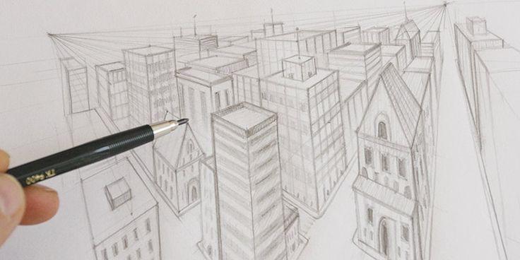 technique simple pour apprendre à dessiner en perspective