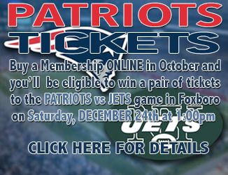 SIGN UP FOR A NEW EZ-PAY MEMBERSHIP of $19.95/mo OR HIGHER AND YOU WILL AUTMOATICALLY BE ELIGIBLE TO WIN ONE PAIR OF TICKETS TO THE DECEMBER 24TH NEW ENGLAND PATRIOTS vs. NEW YORK JETS GAME AT GILETTE STADIUM IN FOXBORO, MA. WE HAVE TWO PAIRS OF TICKETS. WINNERS WILL BE SELECTED THE FIRST WEEK OF DECEMBER.