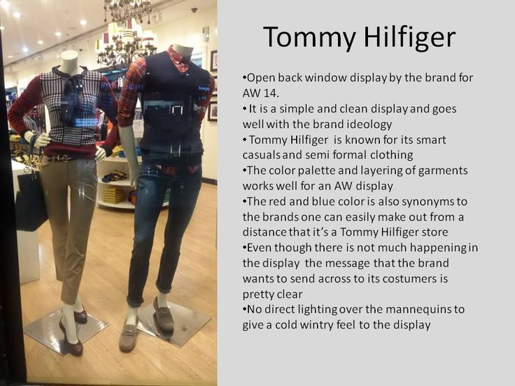 Tommy Hilfiger AW 14 display ... the colors and layering of garments is so autumn winter