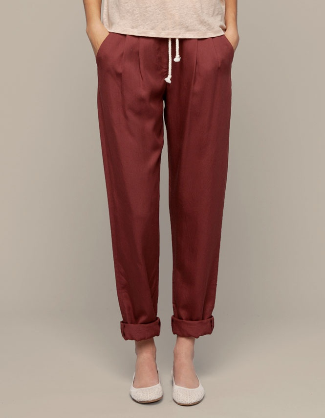 Pleated pants, Oysho