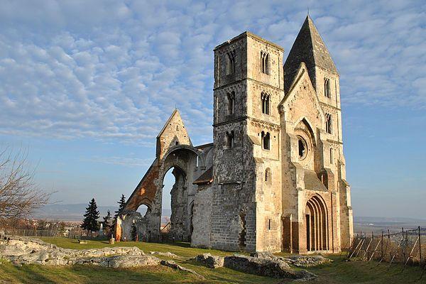 Ruins of Premonstratensian monastery church in Zsámbék (Zsambek), Hungary.