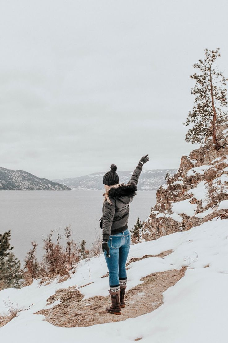 Kalamalka Lake, Vernon BC Canada - winter hikes