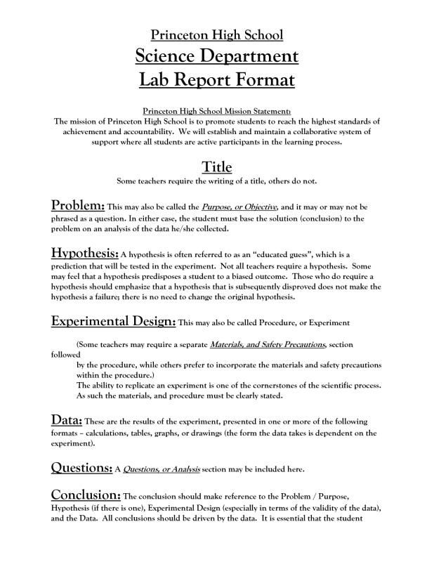 Lab Report Template Check More At Https Nationalgriefawarenessday Com 739 Lab Report Template Physics High School High School Science Lab Report