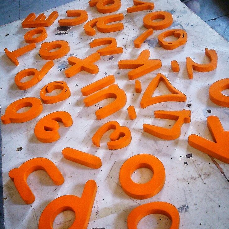 Wooden painted letters